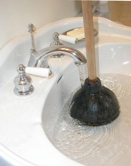 отпушване на мивка