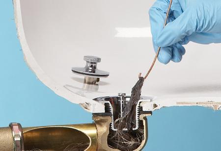 отпушване на сифон на мивка