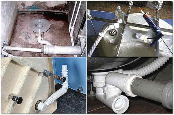 свързване на душ кабина