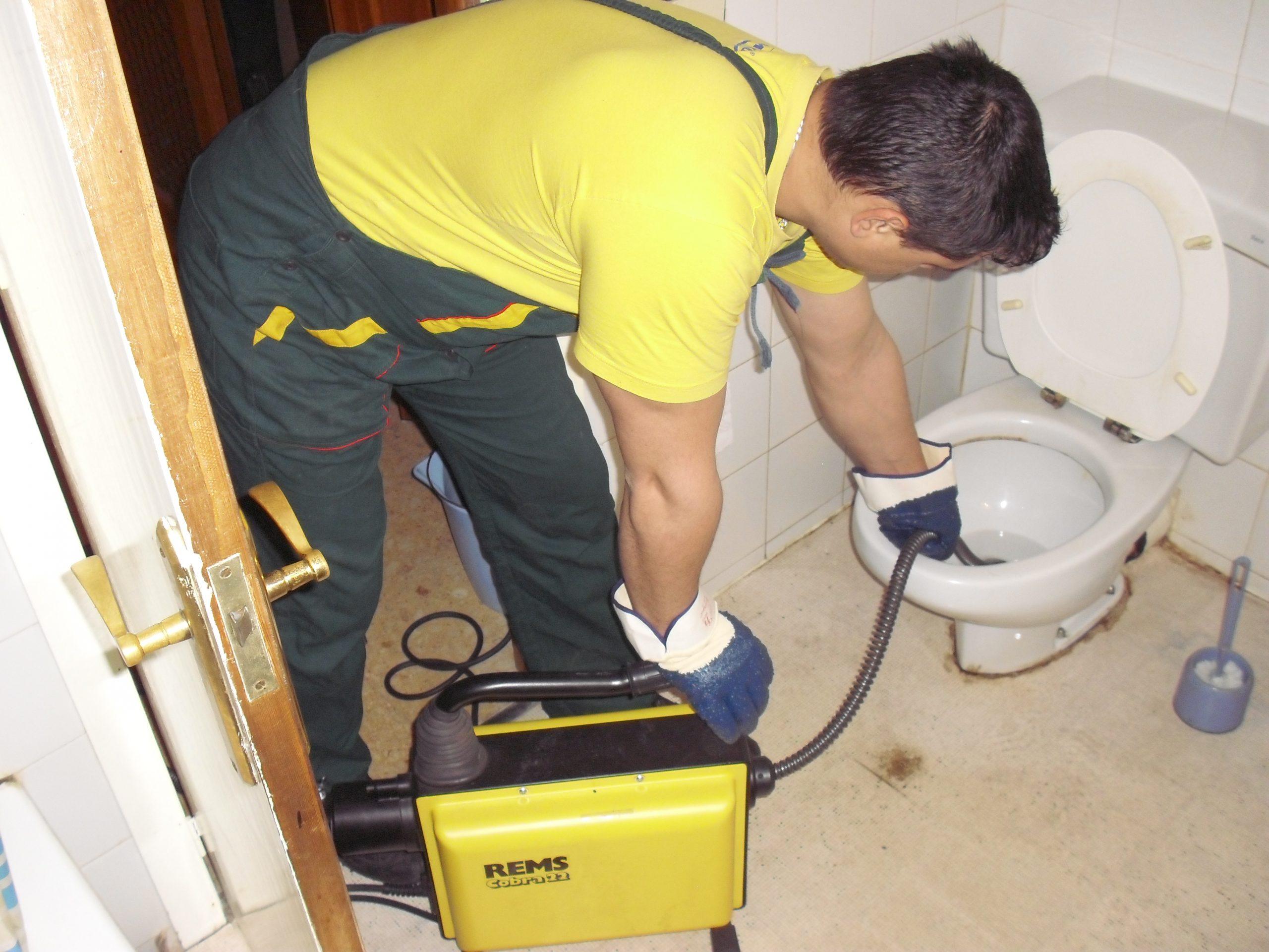 запушване на тоалетна